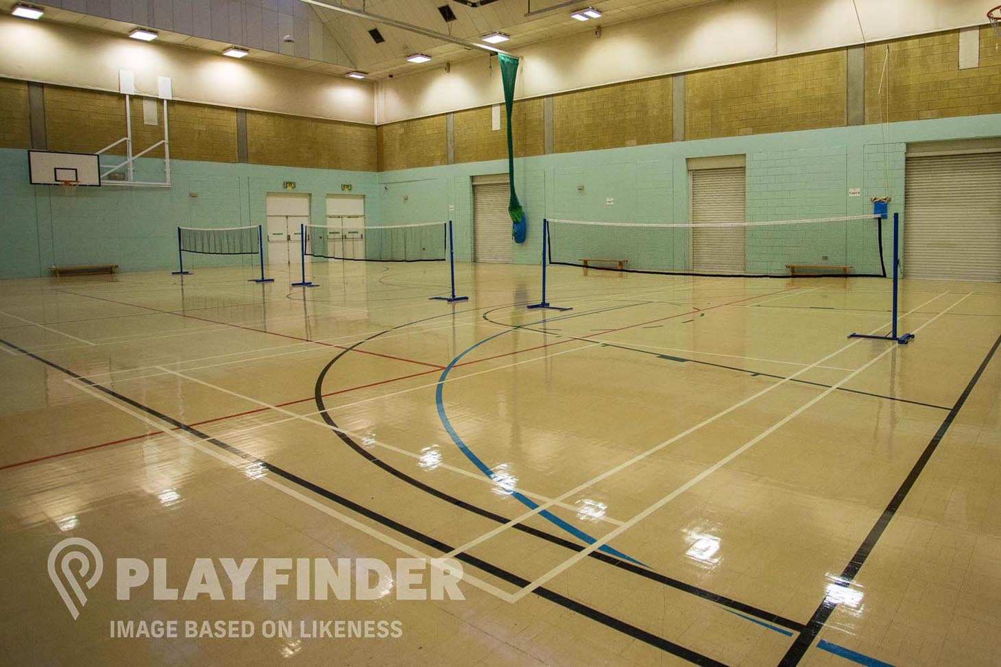 Salford City College Indoor | Hard badminton court