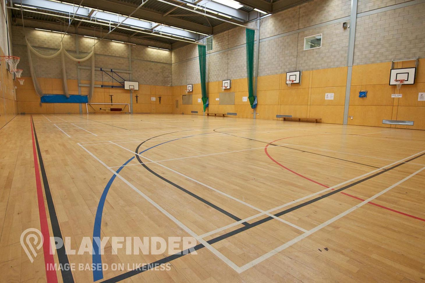 Varndean College Indoor basketball court