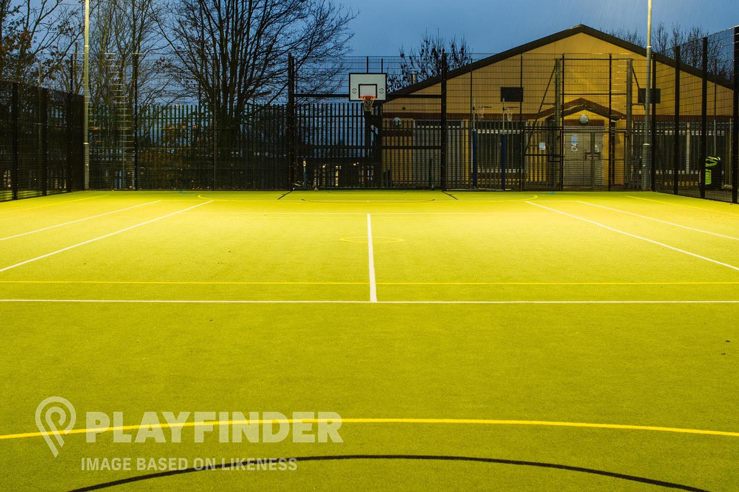 dlr Monkstown Outdoor | Astroturf basketball court