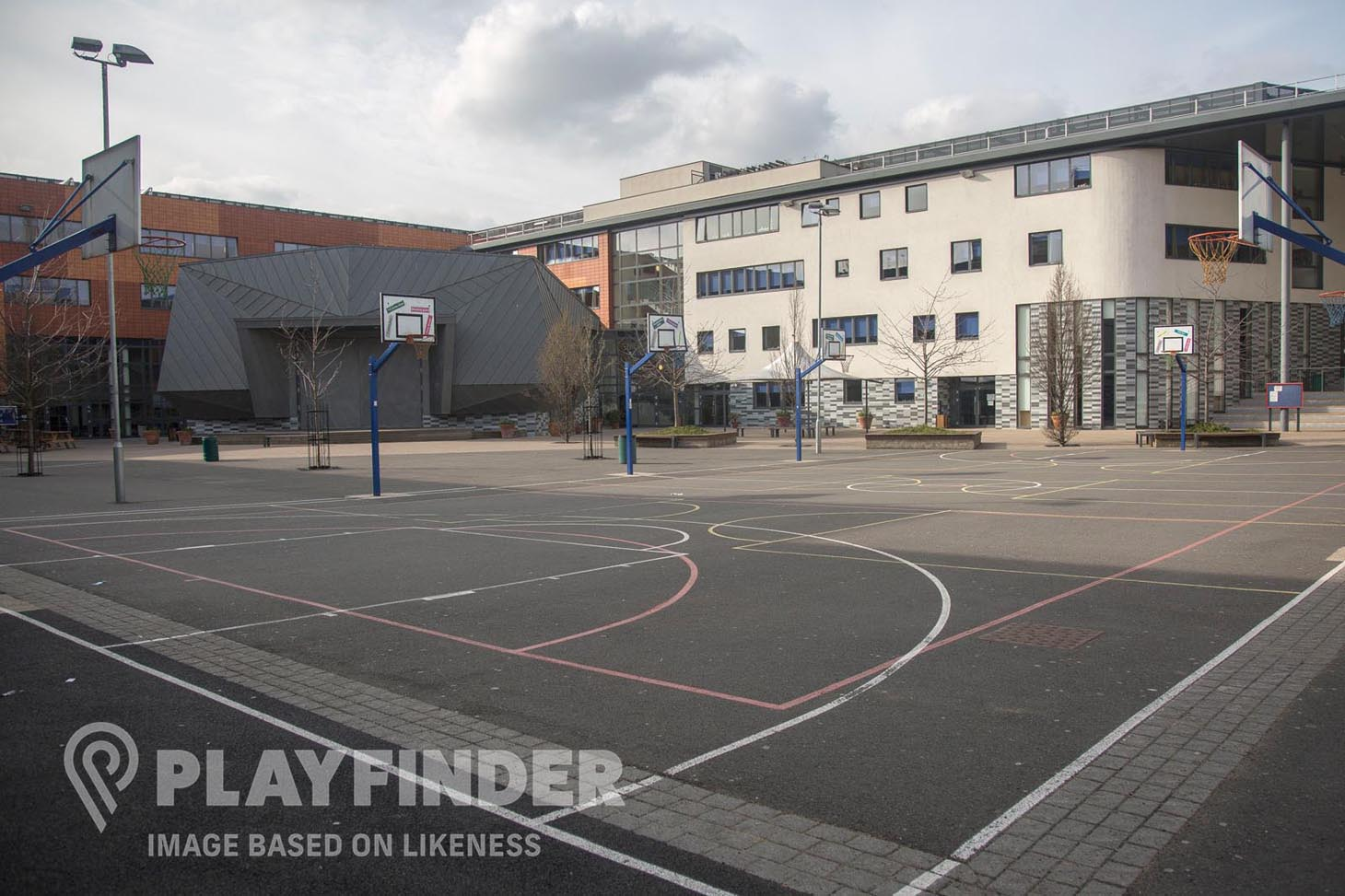 Hamilton Lodge School for Deaf Children Outdoor | Hard (macadam) basketball court