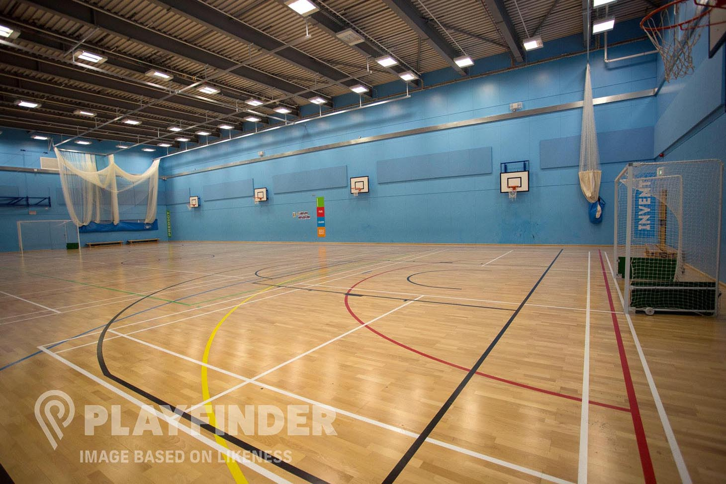 Buxton School Indoor hockey pitch
