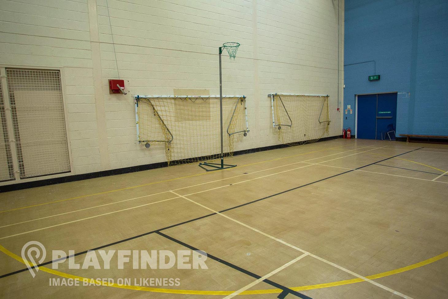 Lostock School Indoor netball court