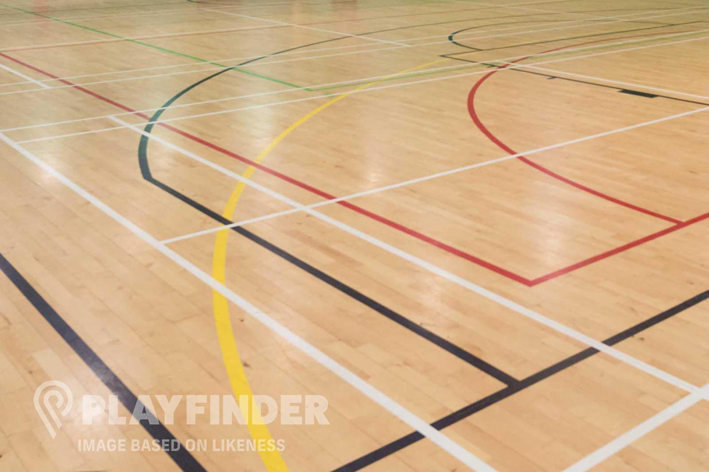 Kensington Aldridge Academy Court | Sports hall volleyball court
