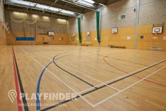 Connell Sixth Form College | Indoor Basketball Court