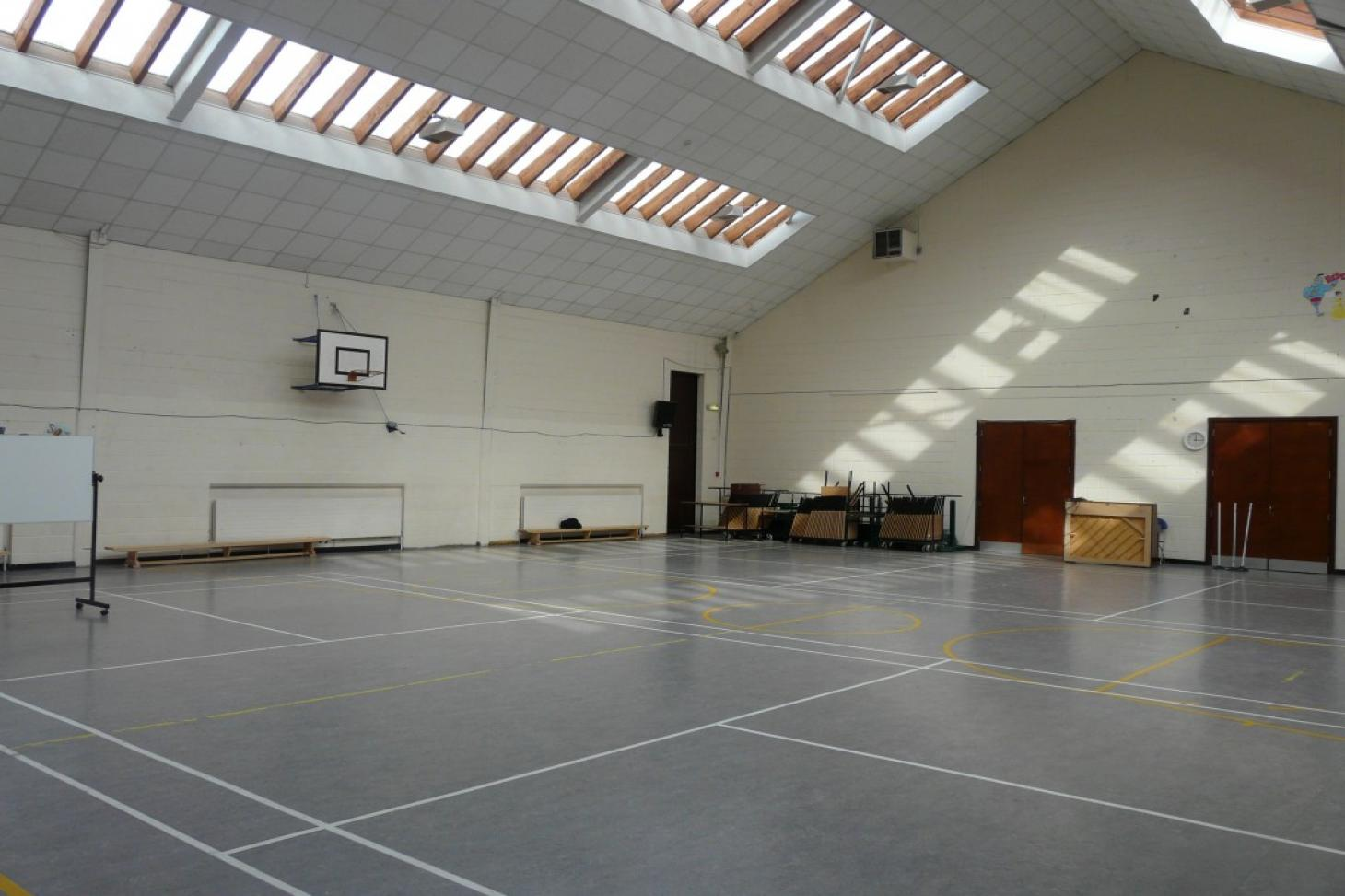 St. Raphaela's Secondary School Indoor | Hard badminton court