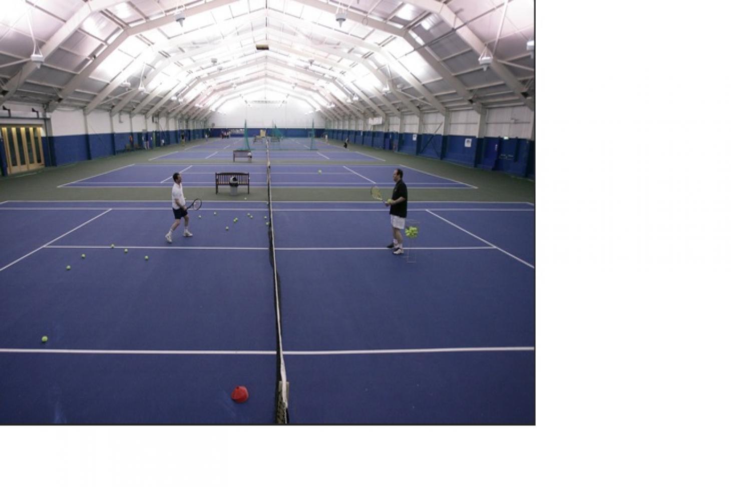 West Wood Health Club, Clontarf Indoor tennis court