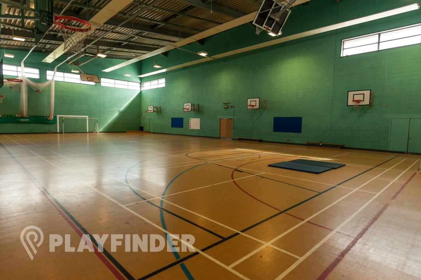 The Albion Academy Indoor basketball court