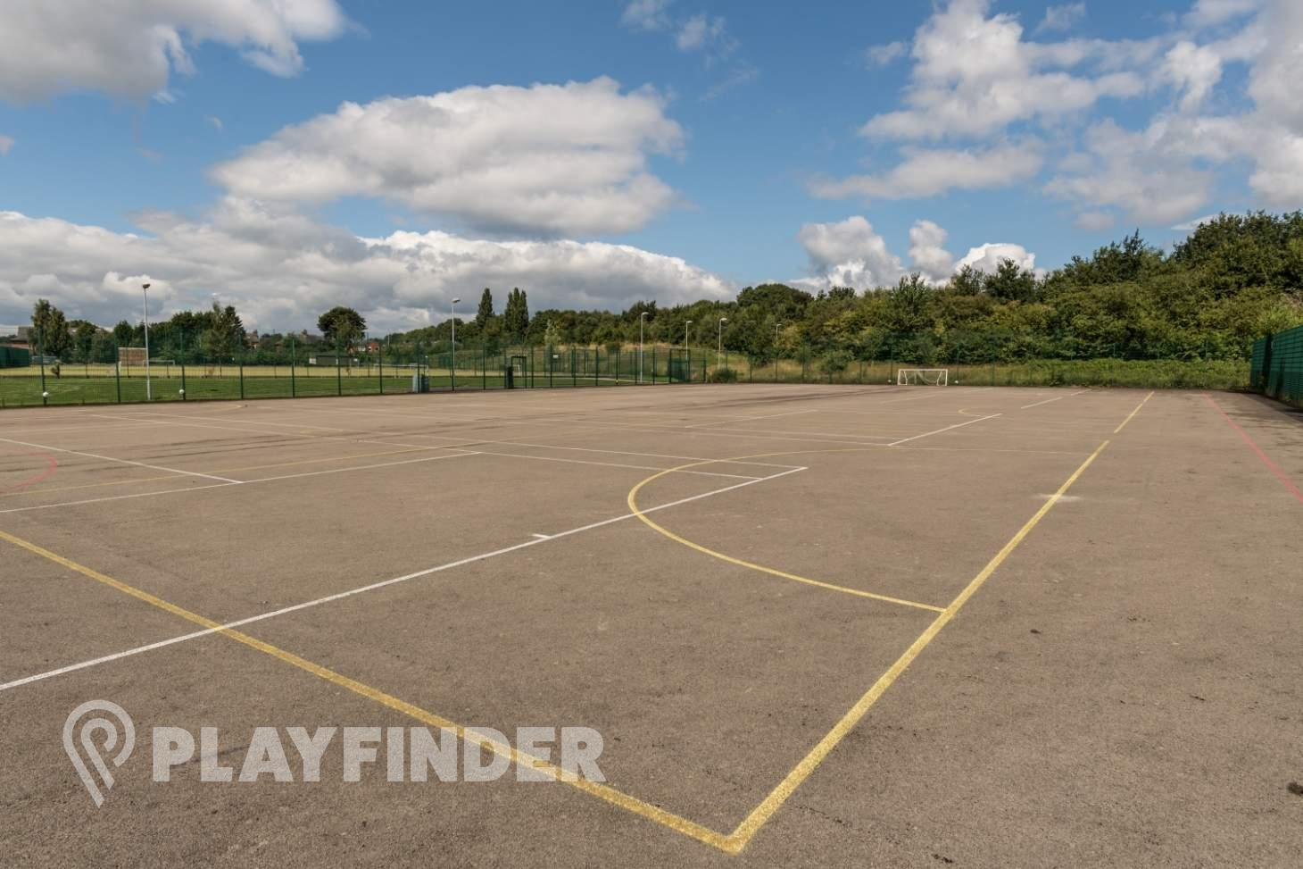 Harrop Fold School Outdoor | Concrete tennis court