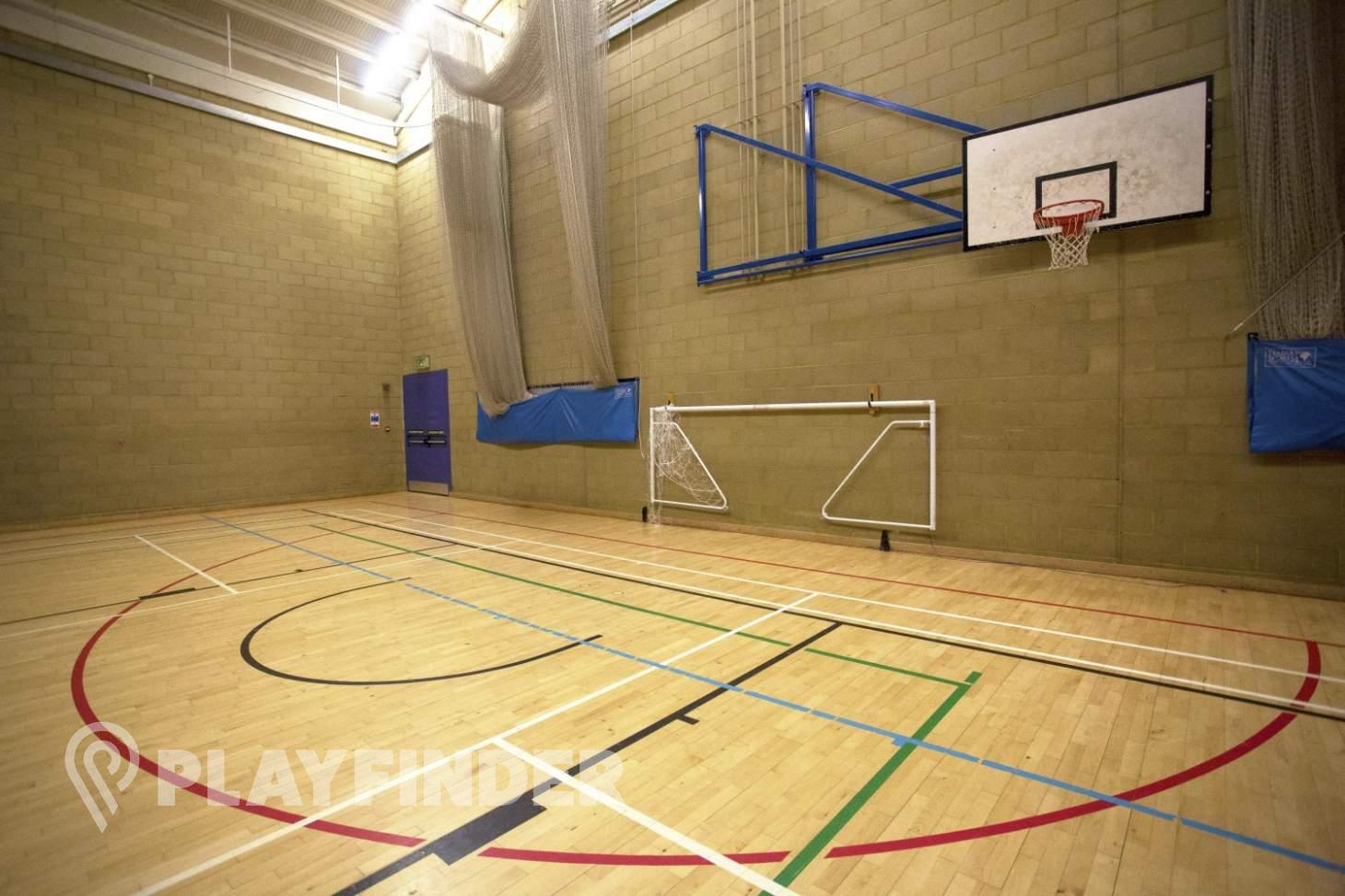 Royal Holloway University Sports Centre Indoor basketball court