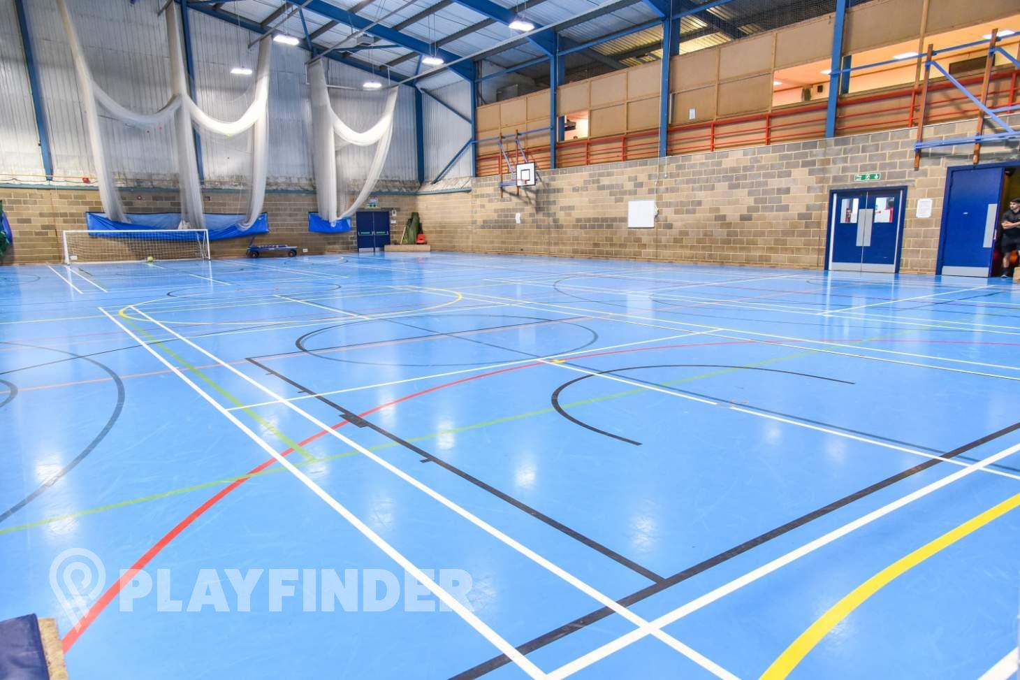 Aldenham School Sports Centre Indoor netball court