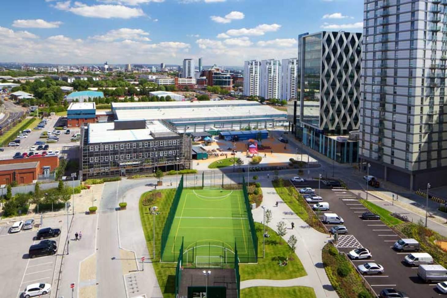 The Pitch - MediaCityUK Outdoor   3G Astroturf netball court