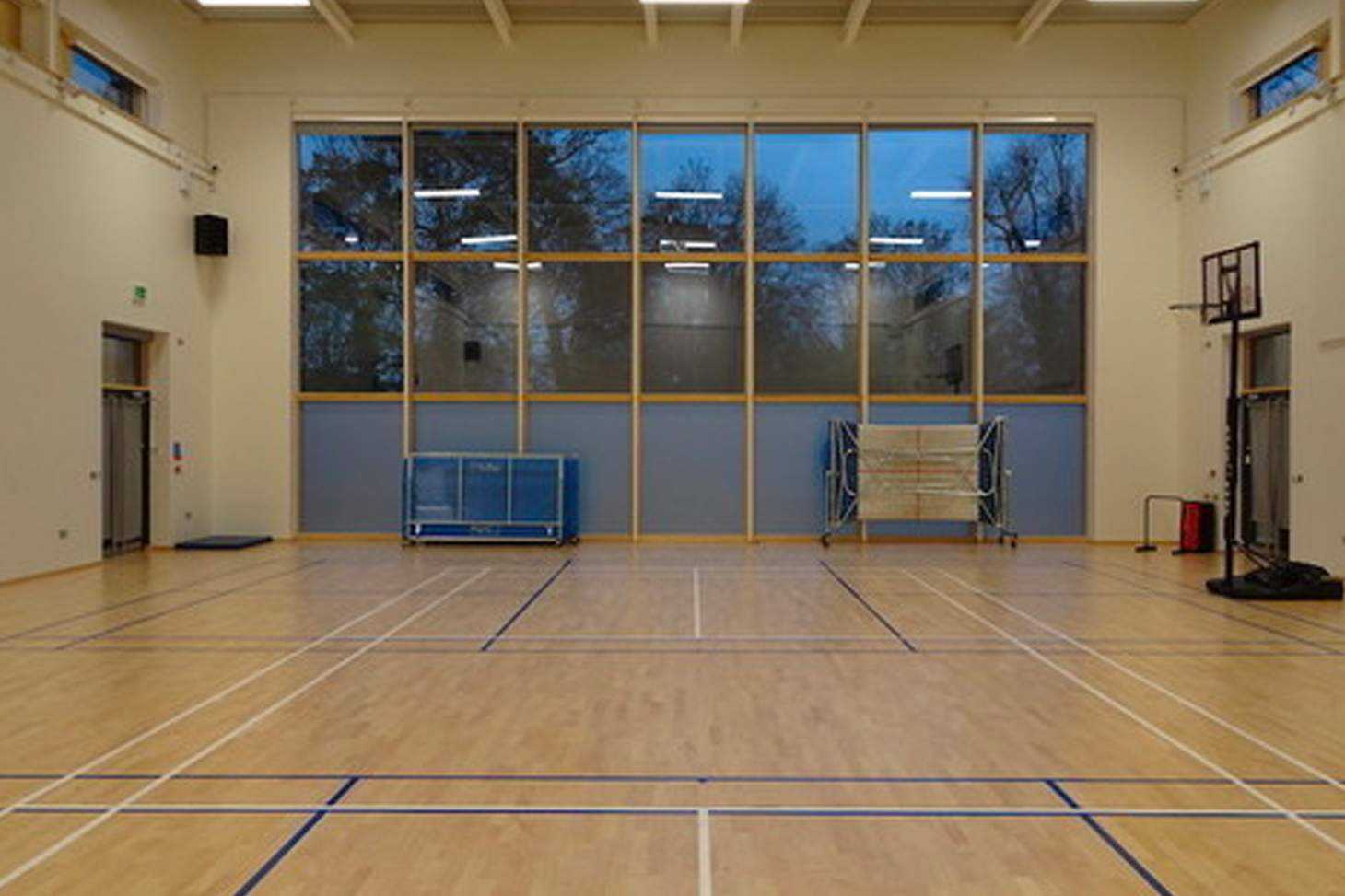 Orchardside School Court | Sports hall badminton court
