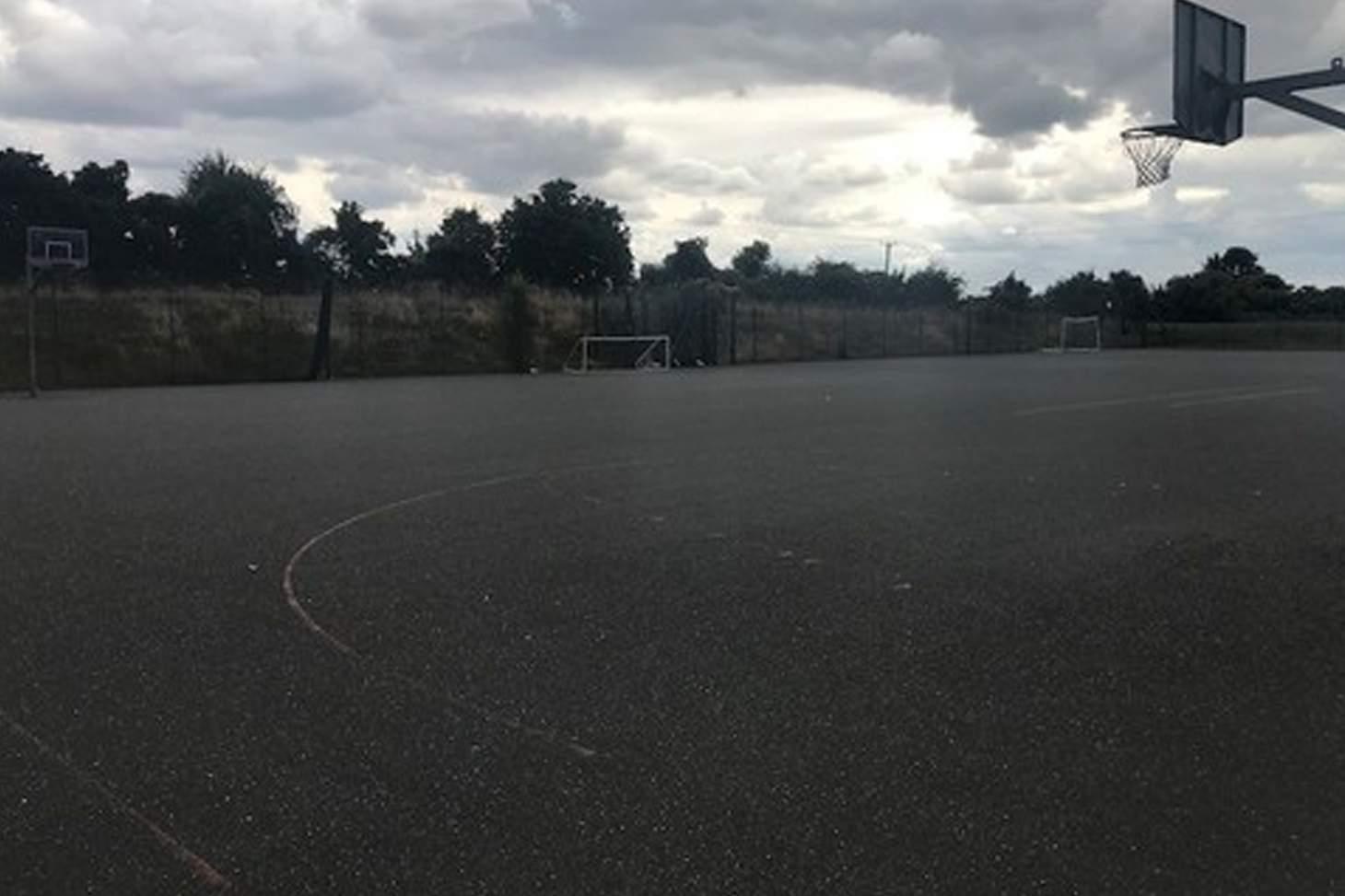 Princes Risborough School 5 a side   Concrete football pitch