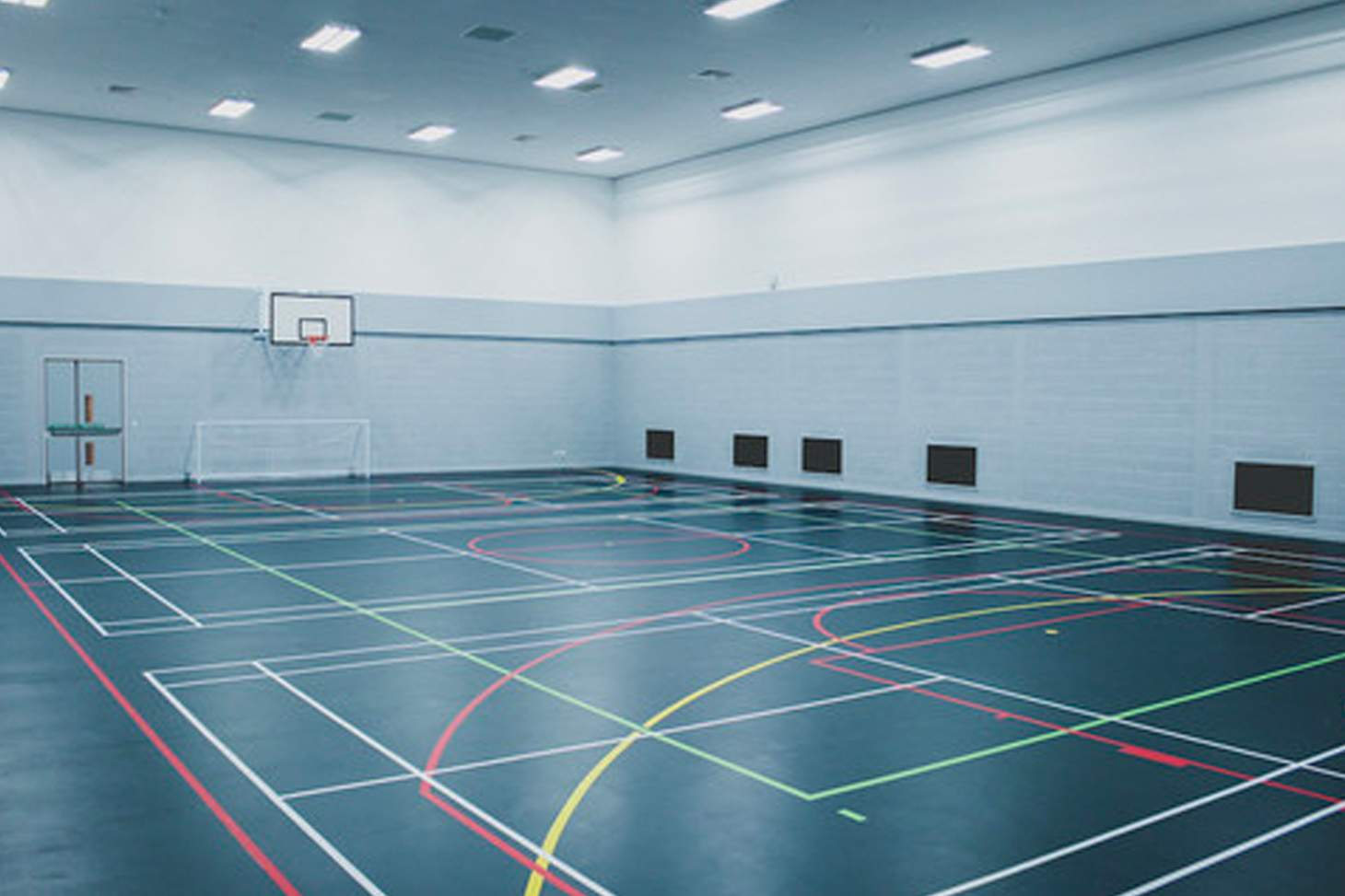 Global Academy, Hayes Court   Sports hall badminton court