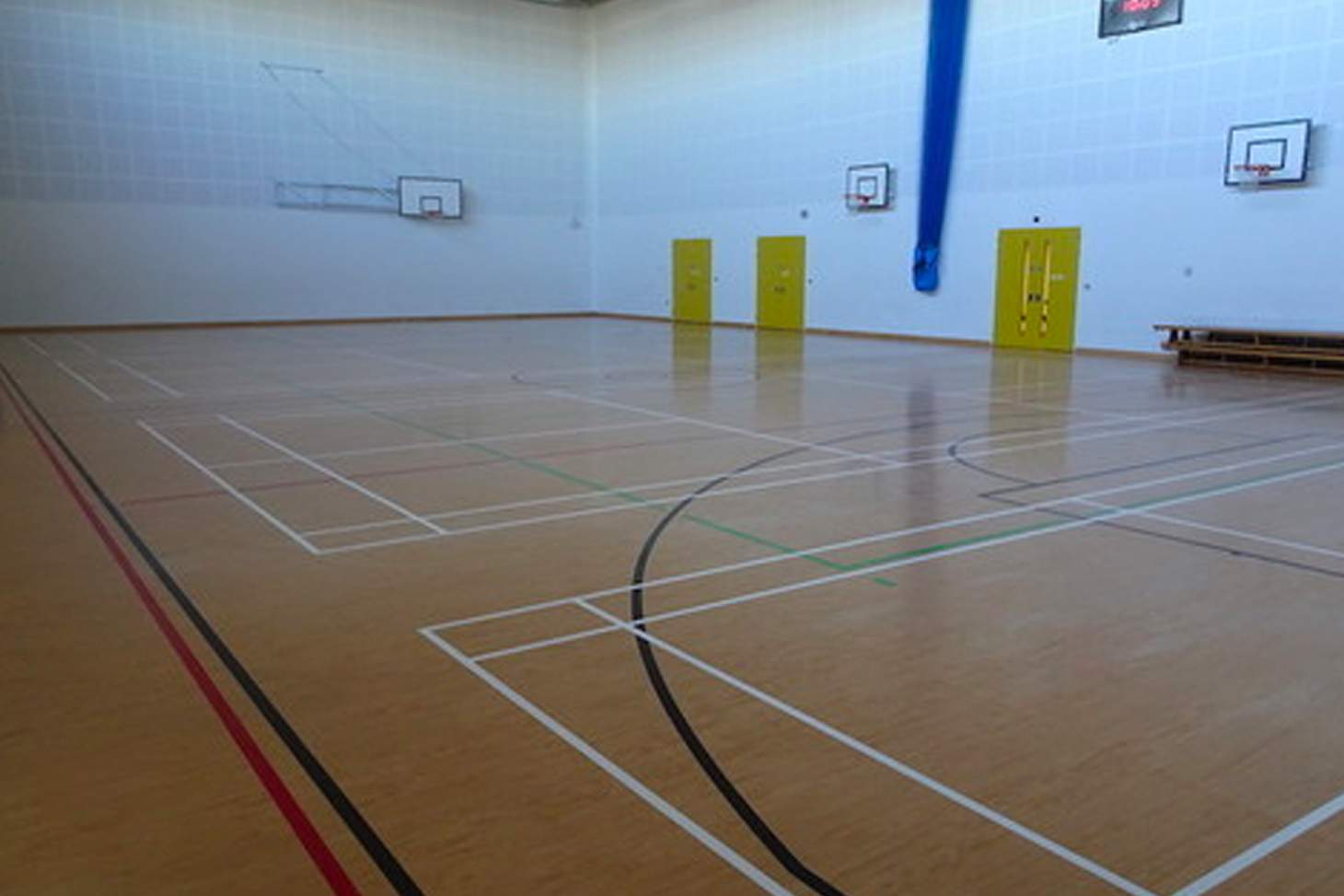Our Lady's Convent High School Court | Sports hall badminton court
