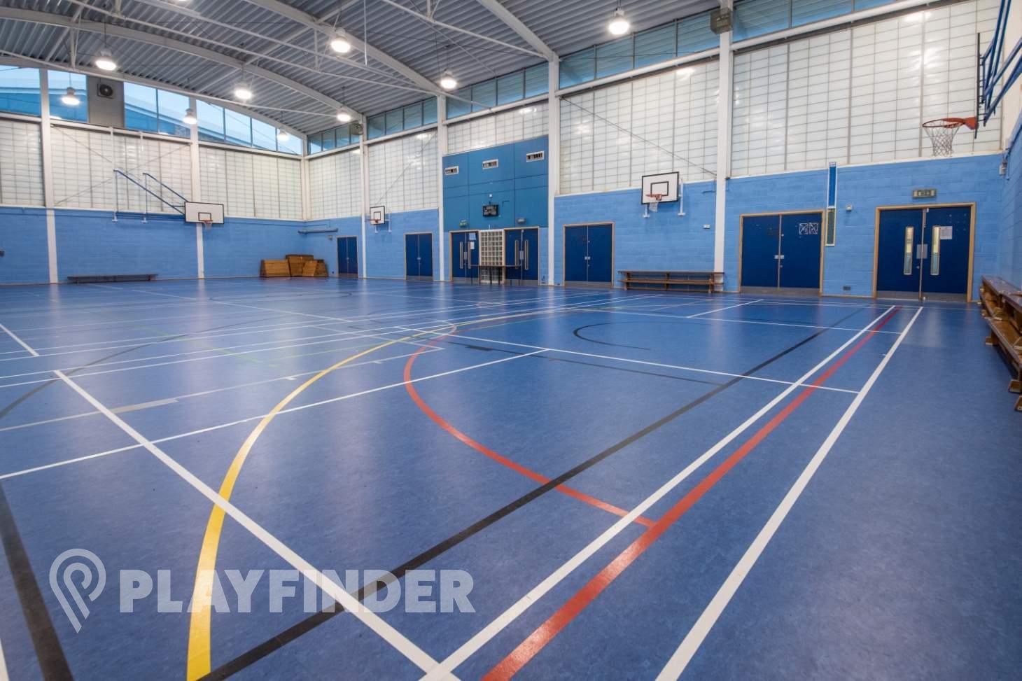 Ark Burlington Danes Academy Court   Sports hall volleyball court