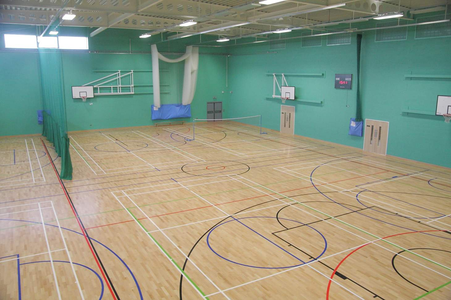 Wellsway Sports Centre Indoor | Hard badminton court