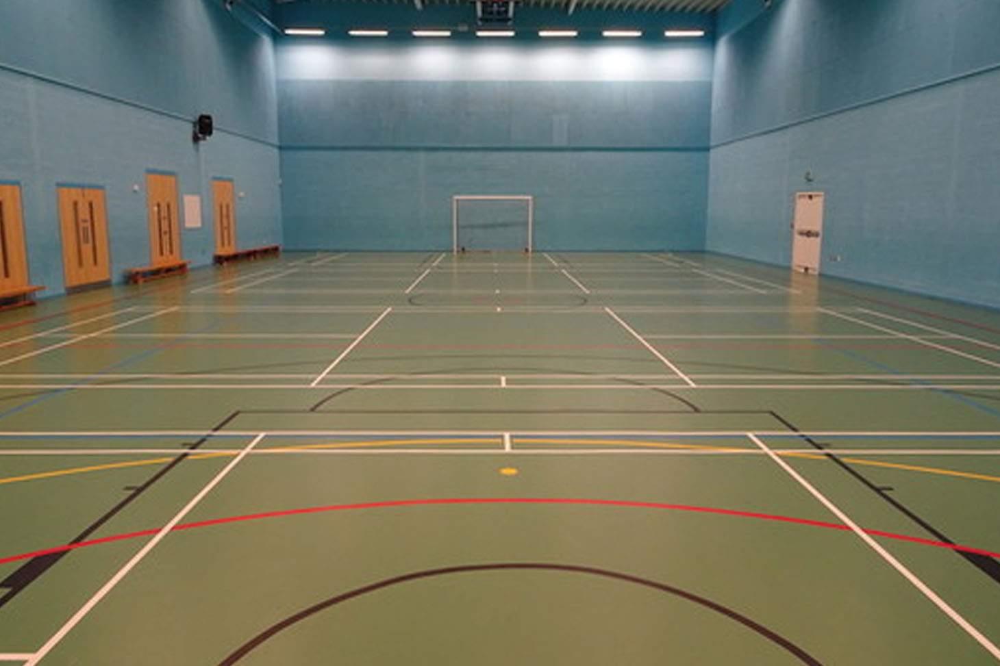 De La Salle Academy Court   Sports hall volleyball court