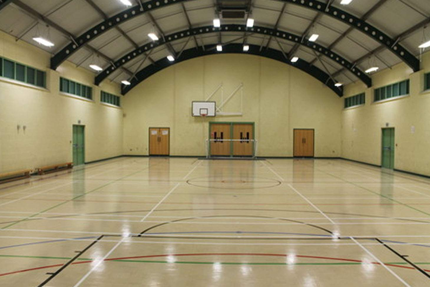Heworth Grange Comprehensive School Indoor badminton court