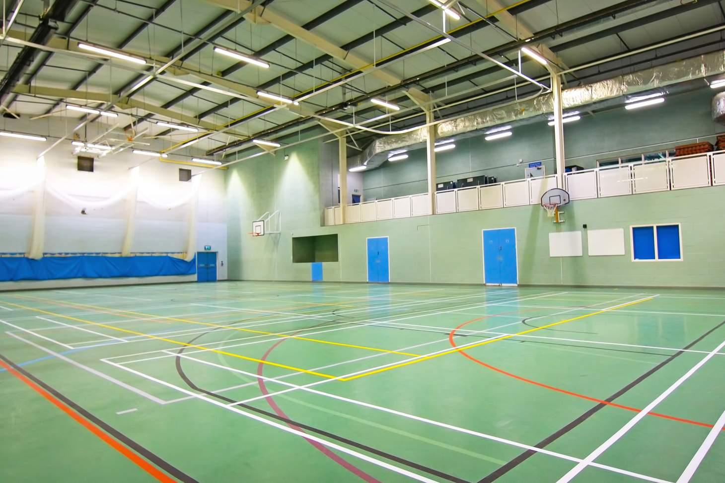 Caterham School Sports Centre Indoor badminton court
