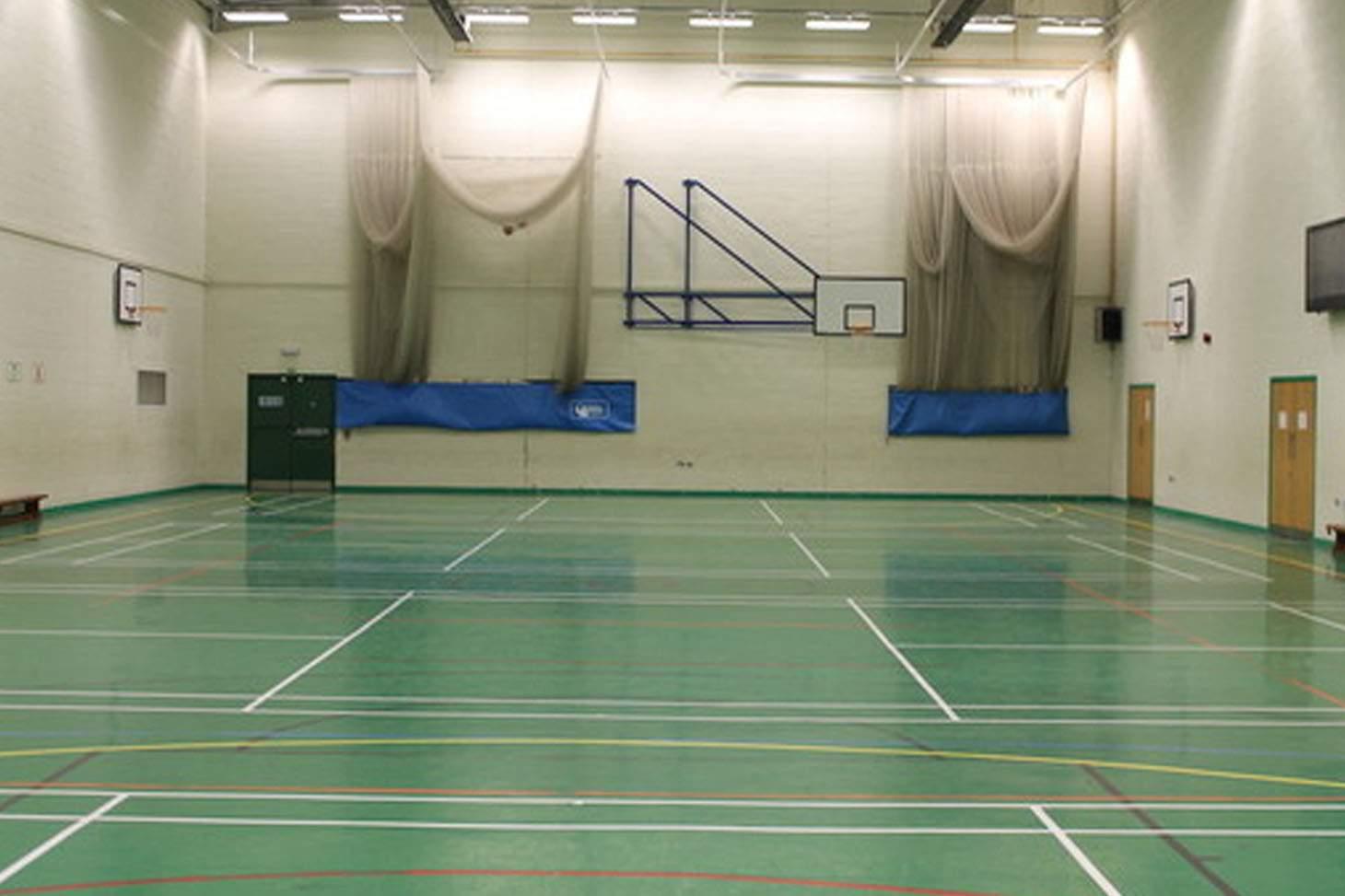 Tudor Grange Academy Solihull Indoor basketball court