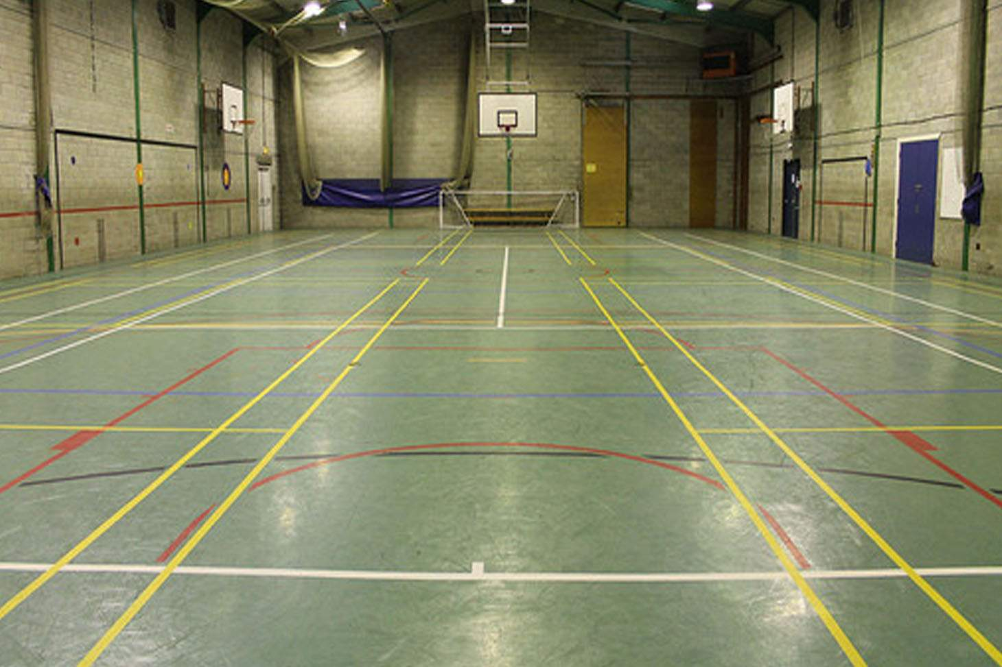 Brownedge St Mary's Catholic High School Indoor badminton court