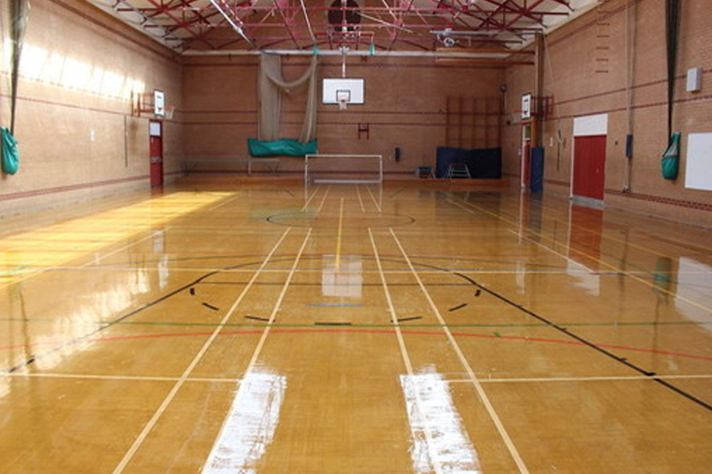 Ashton Community Science College Indoor basketball court