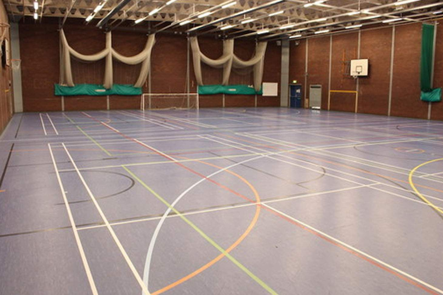 Queens Park High School 5 a side   Indoor football pitch