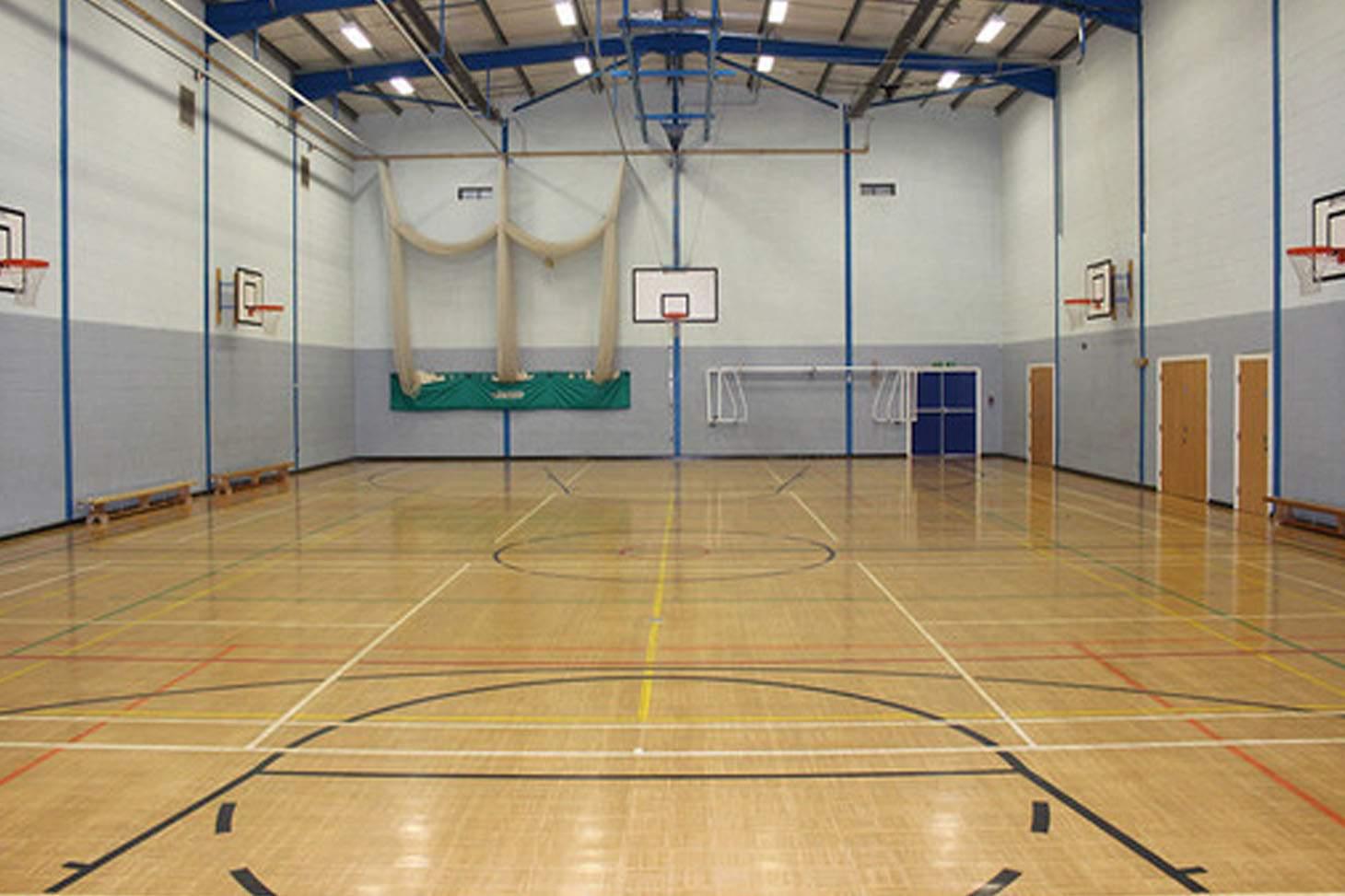 St. James's C of E High School Indoor basketball court