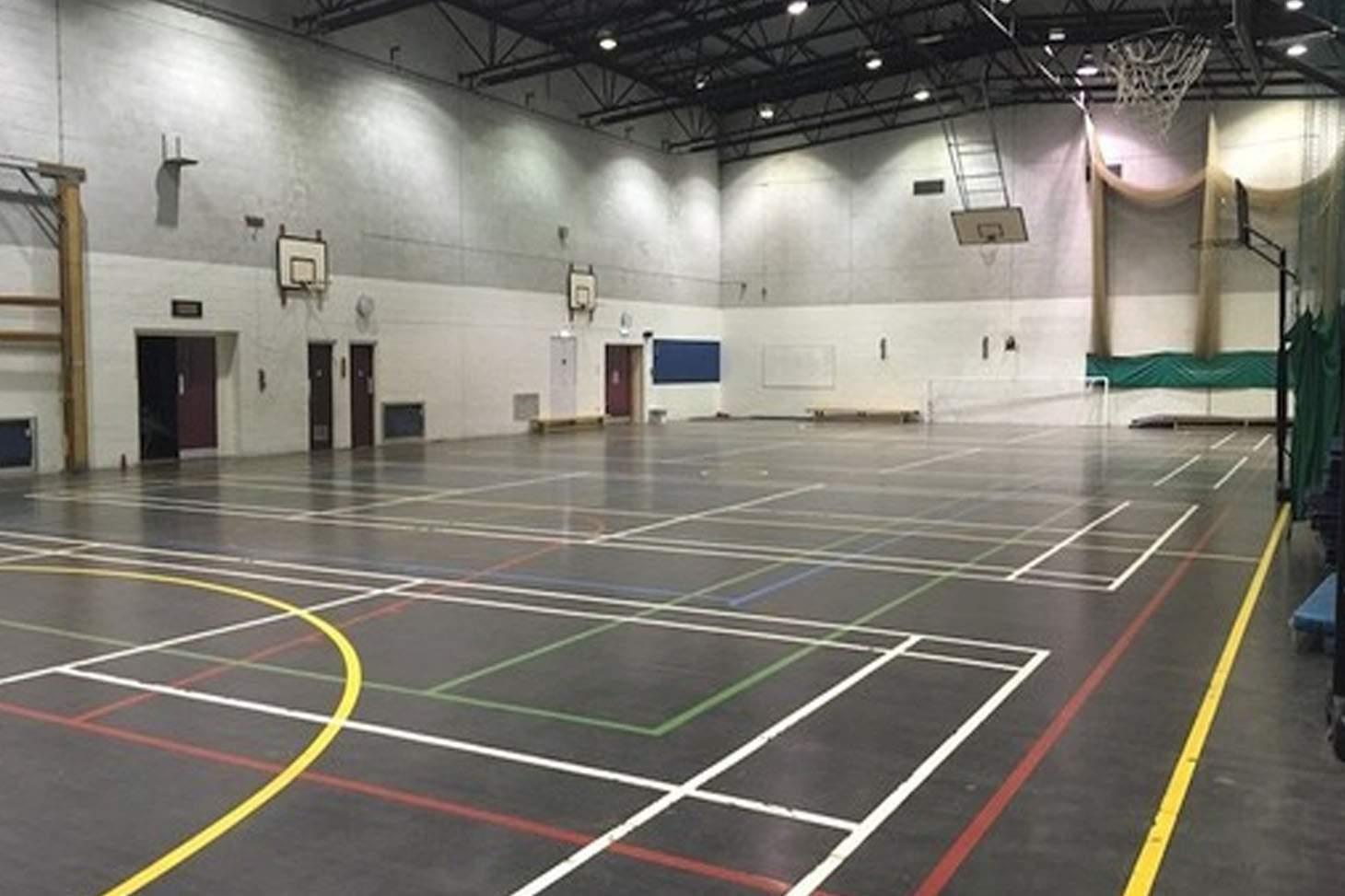 Woodhey High School Indoor badminton court