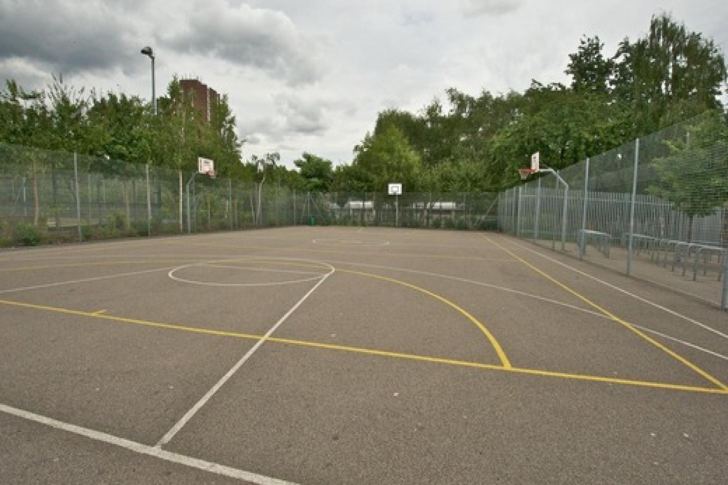 Haverstock School Outdoor   Concrete netball court