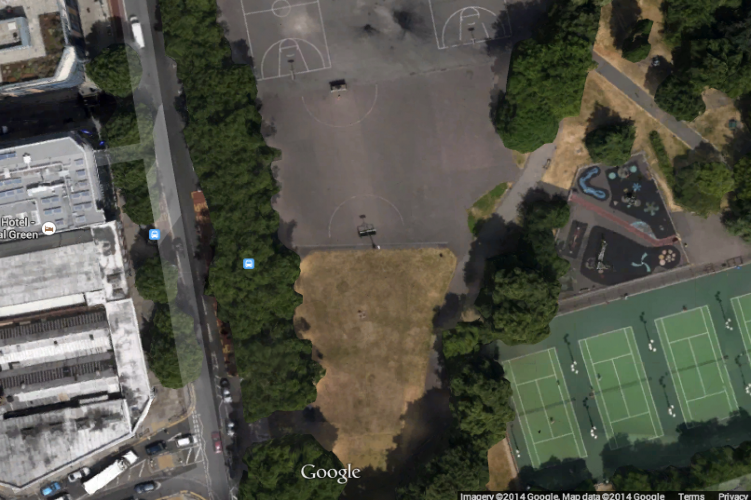 Bethnal Green Gardens 5 a side | Concrete football pitch