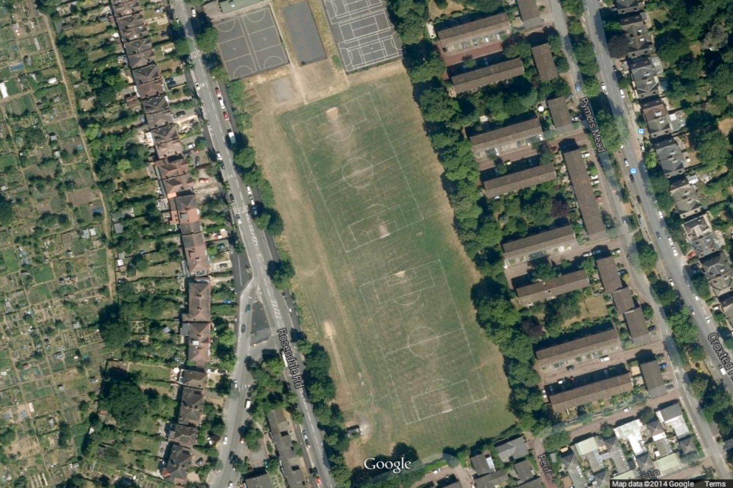 Rosendale Playing Fields 11 a side | Grass football pitch