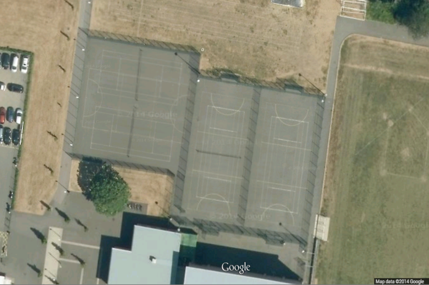 Greenford Sports Centre Outdoor | Concrete netball court