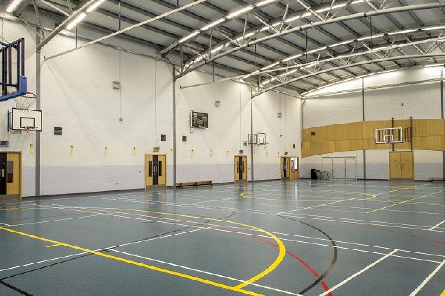 Corduff Sports Centre Indoor basketball court