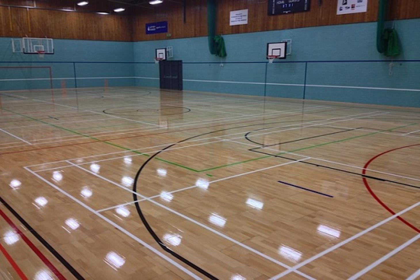 St Columba's College Indoor   Hard badminton court