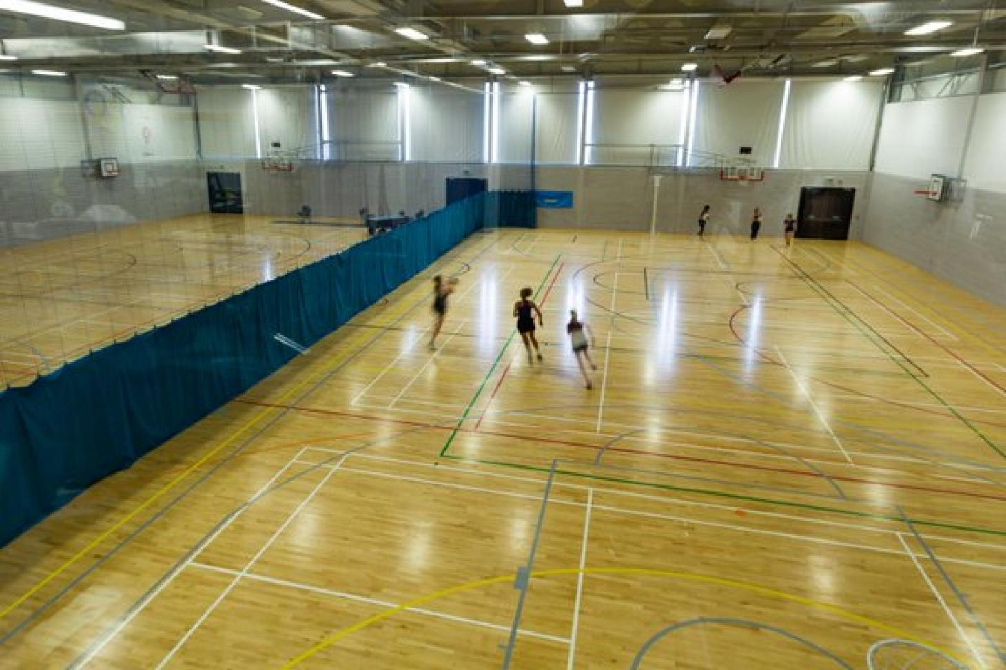 Sports Zone at Oaklands College Indoor | Hard badminton court