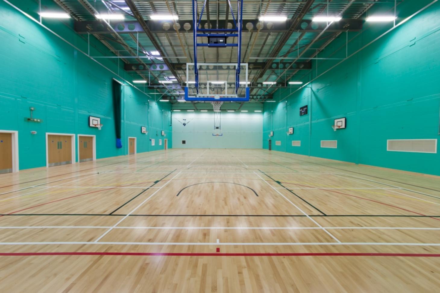 Sandringham School Indoor basketball court
