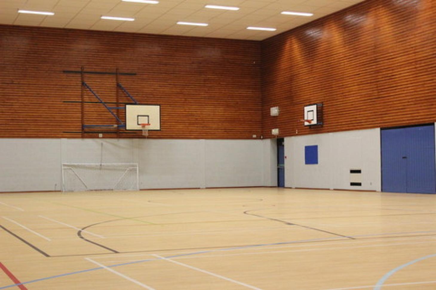 Putteridge High School Indoor basketball court
