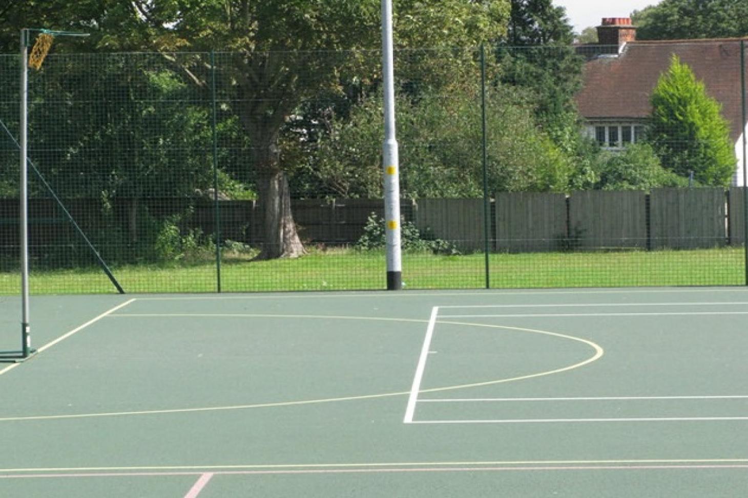 Denbigh High School Outdoor | Hard (macadam) netball court