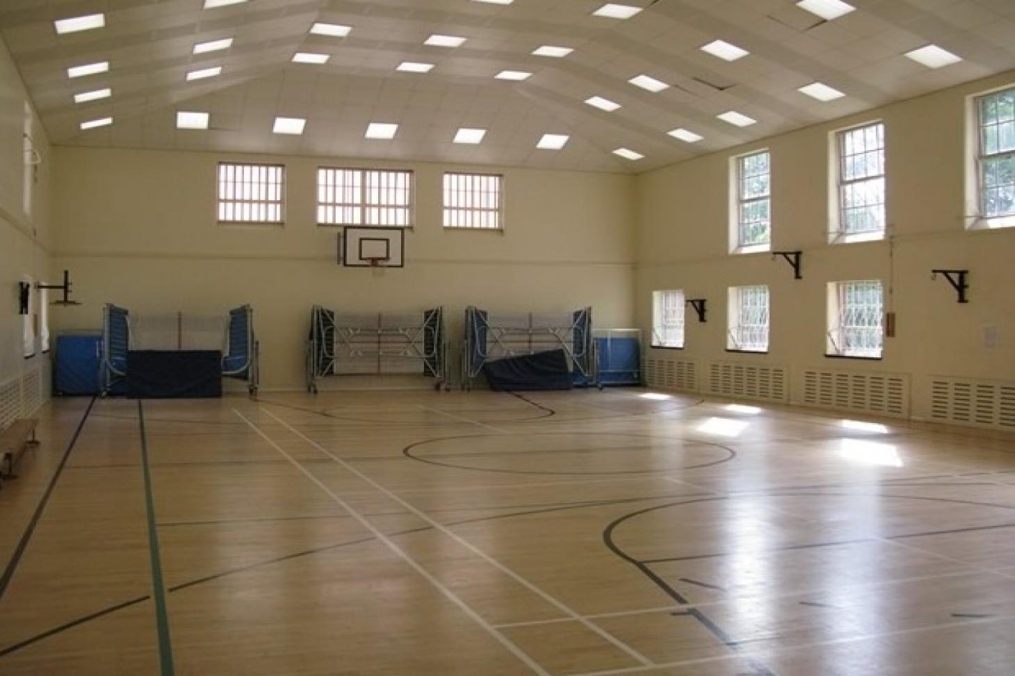 Denbigh High School Indoor basketball court