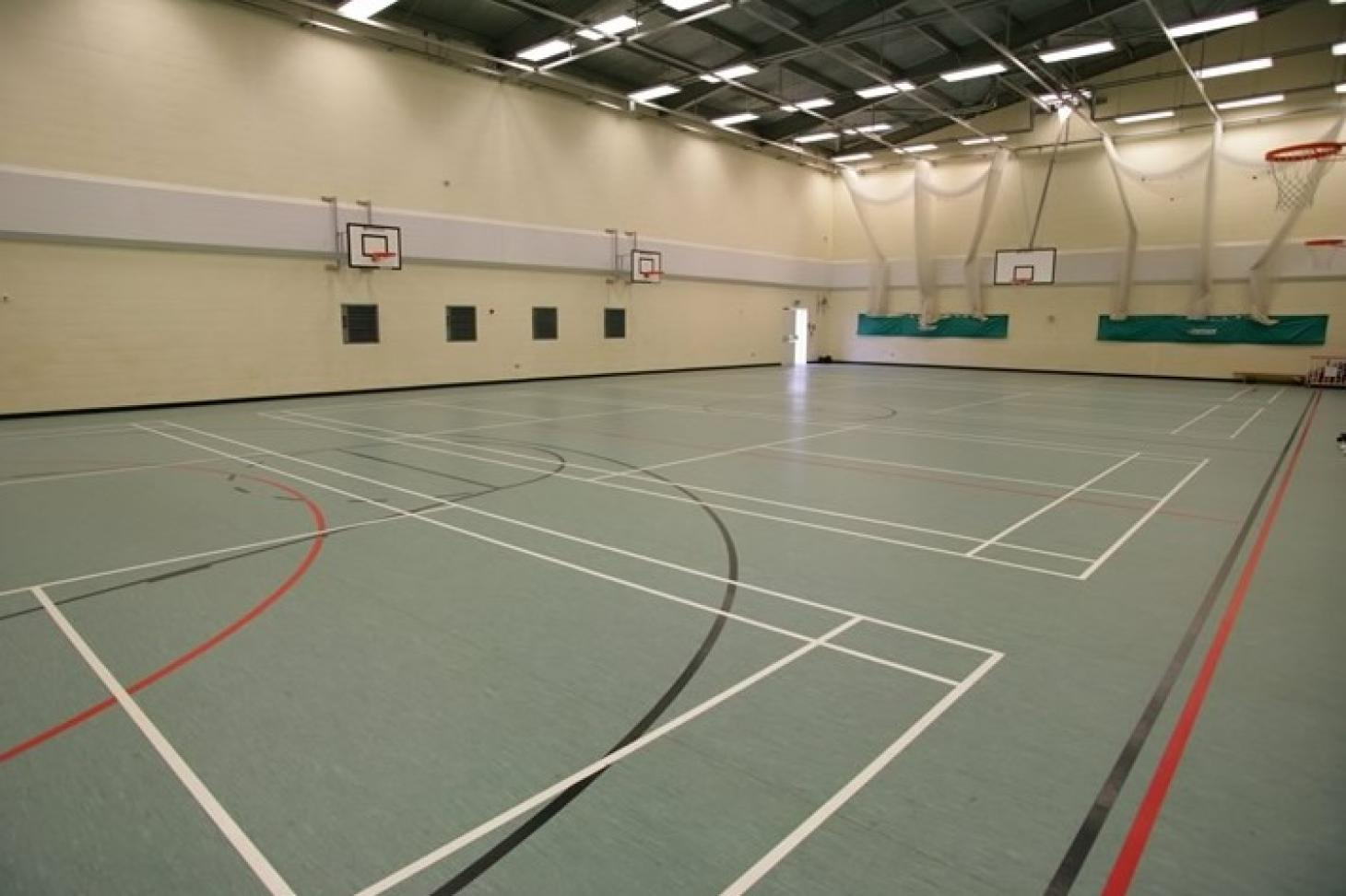 Denbigh High School Indoor   Hard badminton court