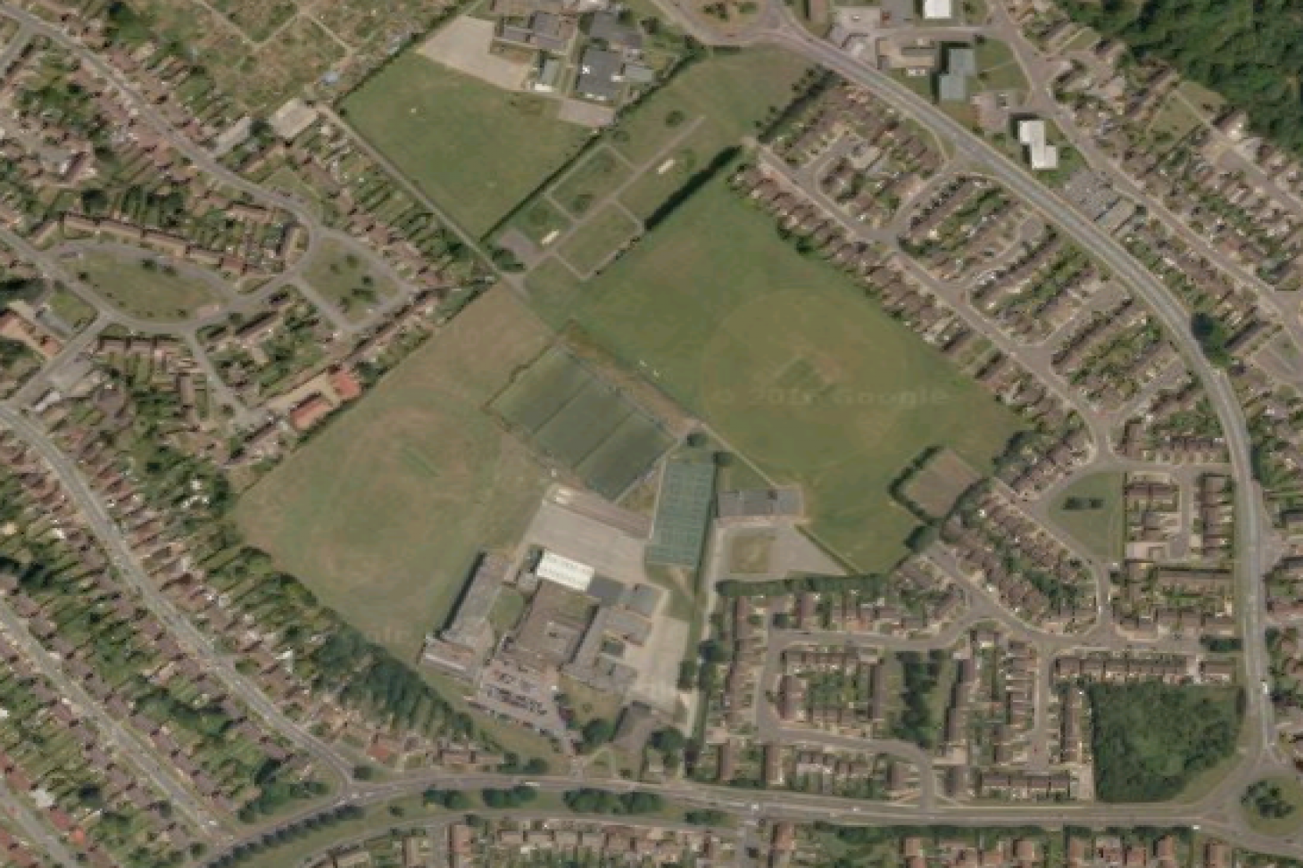 Crawley Green Recreation Ground Full size | Grass cricket facilities