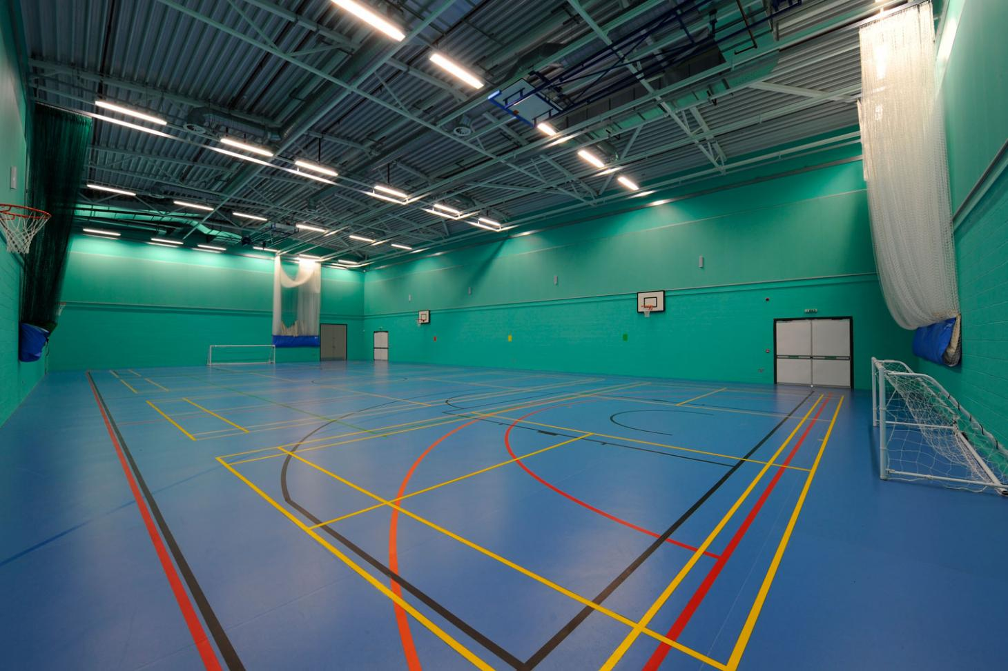 Challney High School for Girls Indoor basketball court