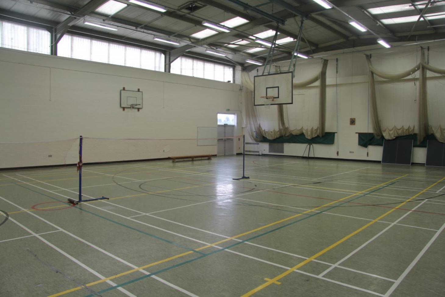 Ashcroft High School Indoor basketball court