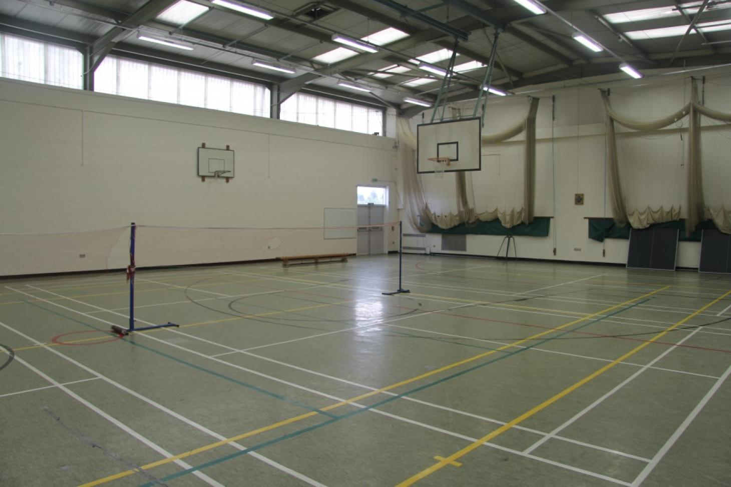 Ashcroft High School Indoor netball court