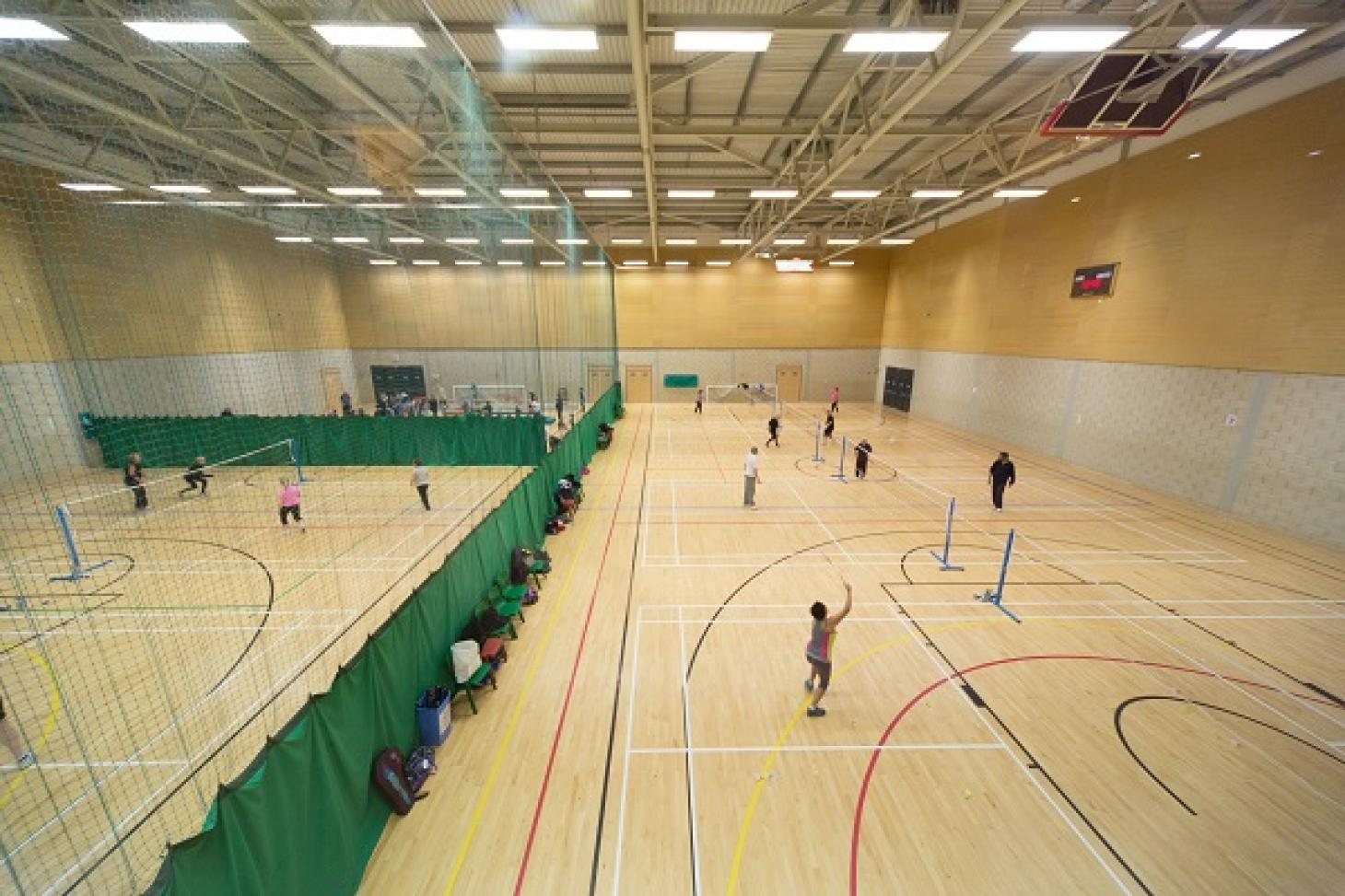Inspire: Luton Sports Village Indoor netball court