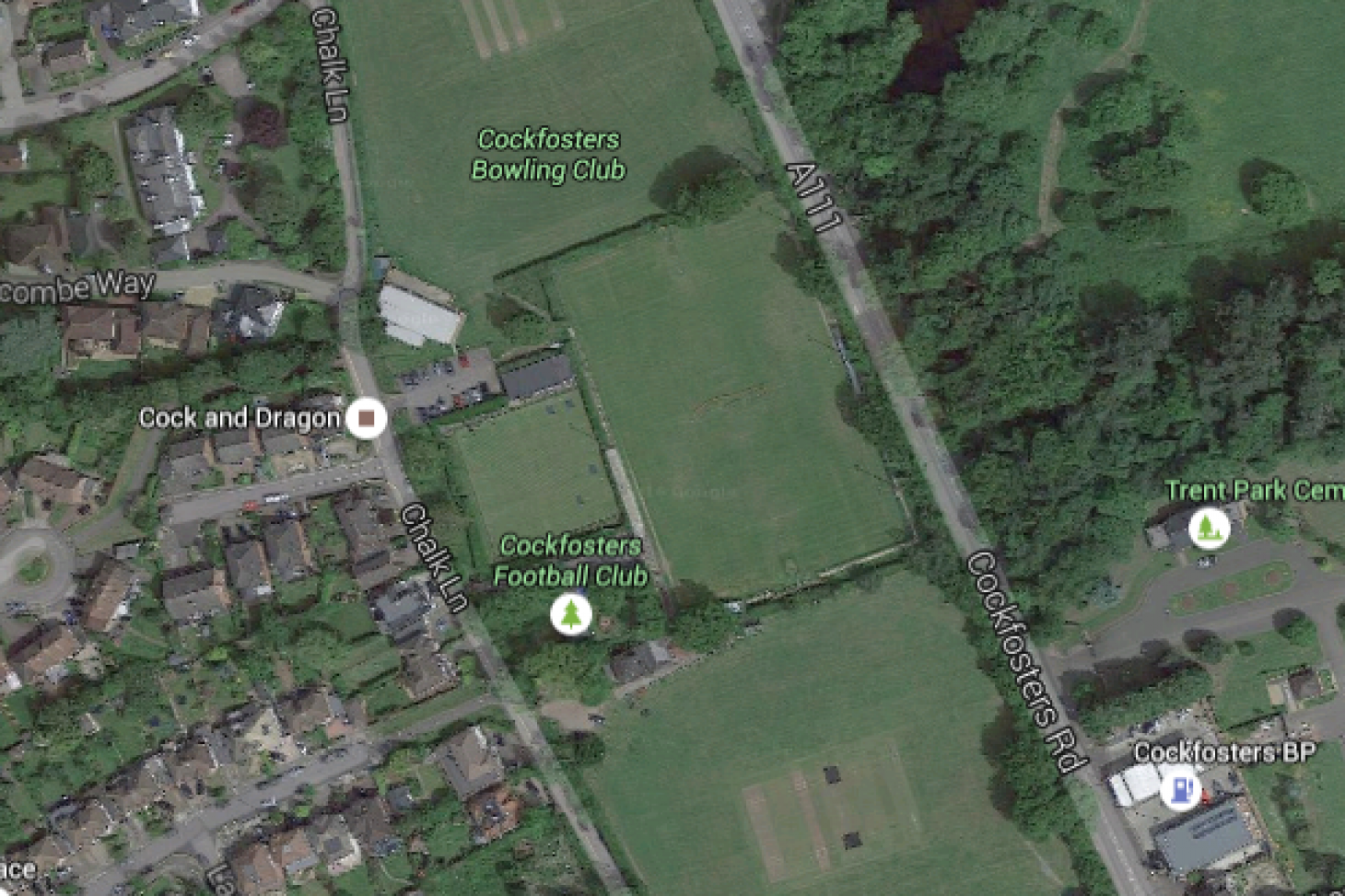 Cockfosters Sports Ground 11 a side | Grass football pitch