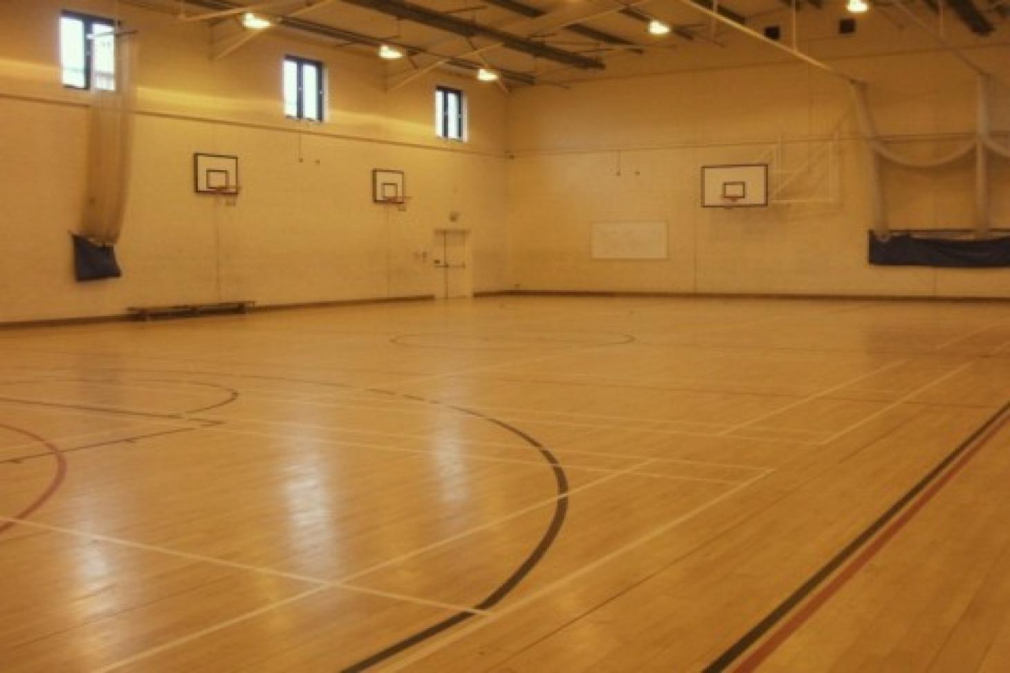 Cleeve Park School Indoor basketball court