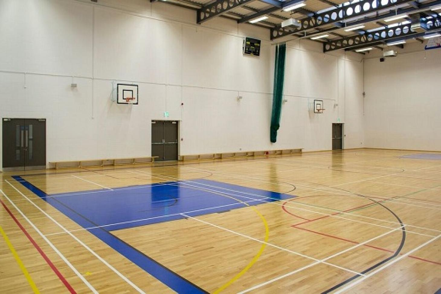 Loreto Abbey Sports Hall Indoor | Hard badminton court